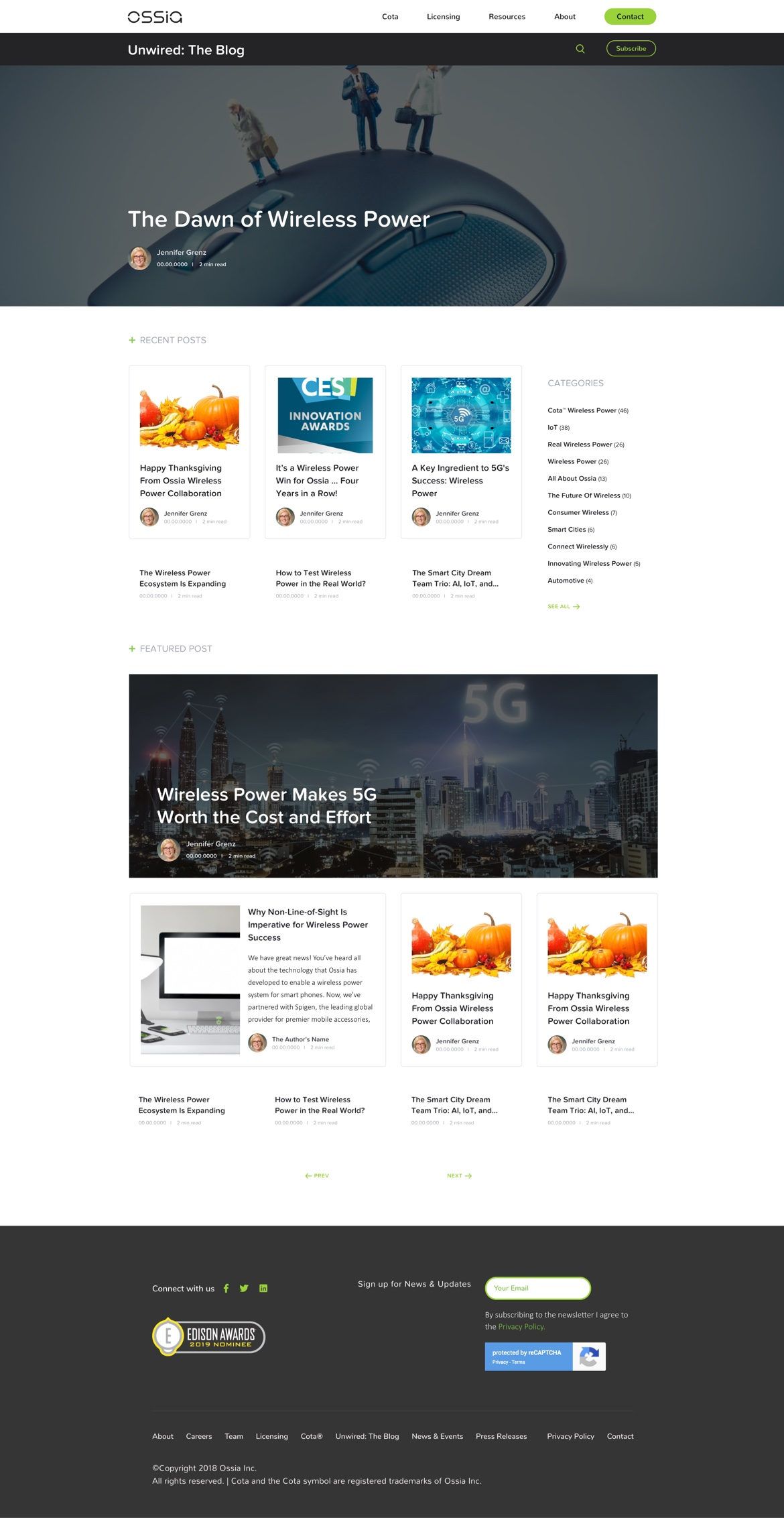 ossia-homepage
